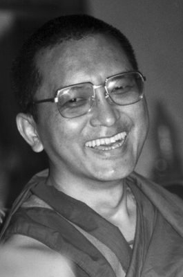 Lama Zopa Rinpoche. Photo from the collection of Francesco Prevosti. Photographer unknown.
