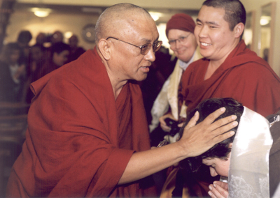 Lama Zopa Rinpoche at Maitreya Instituut, Amsterdam, 2001. Photo by Marlies Bosch www.ladakhnuns.com
