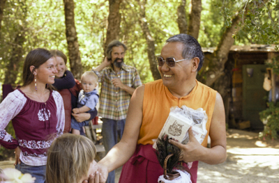 Lama Yeshe at Vajrapani Institute, California, 1983. Photo by Carol Royce-Wilder.