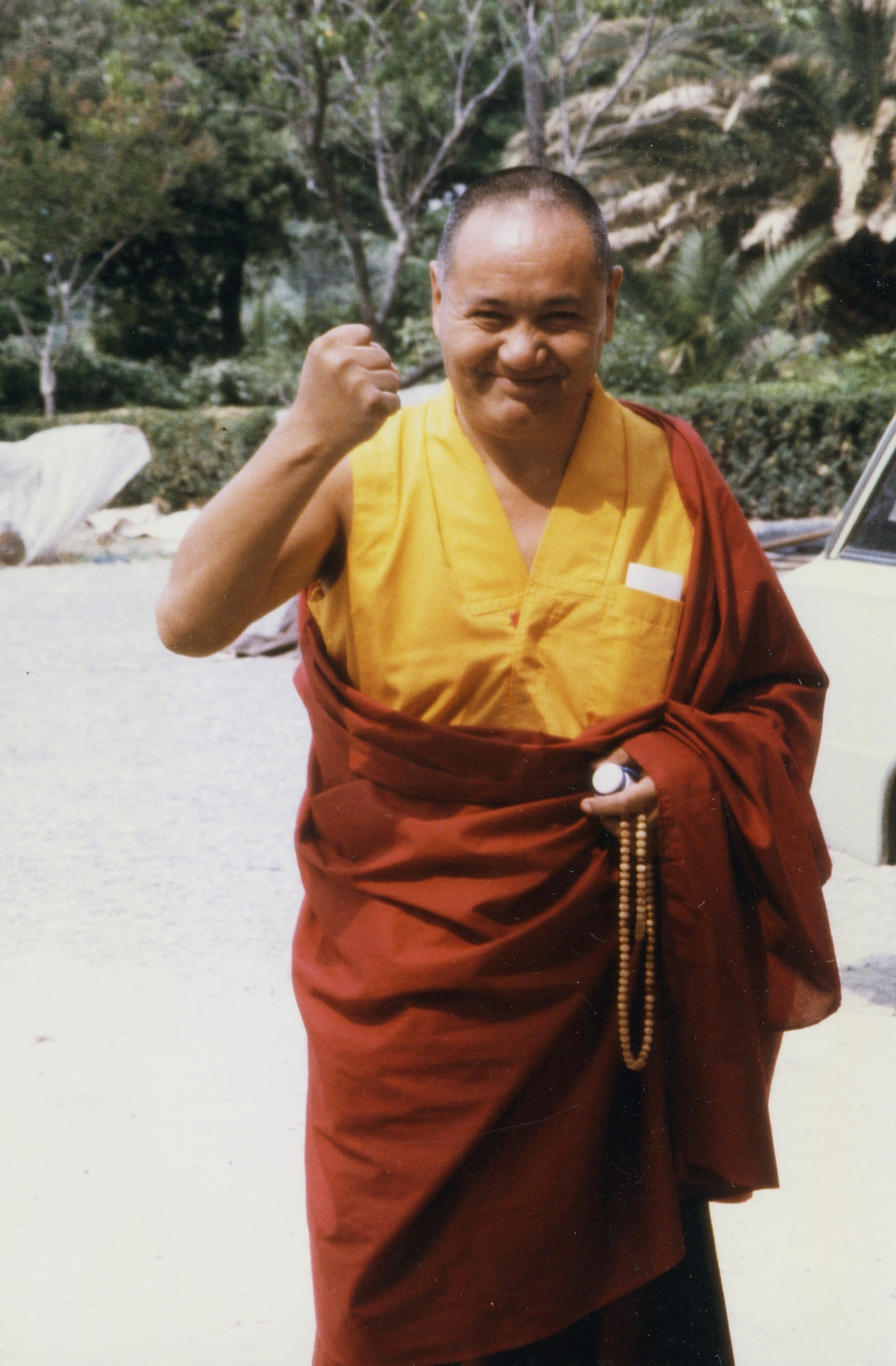 Lama Yeshe in Switzerland, 1978. Photo by Ueli Minder.