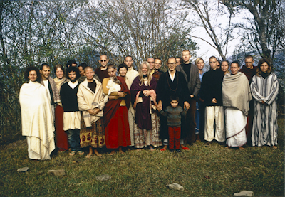 Kopan students with Sylvia (in robes), Zengo and Michael Cassapidis, 1970