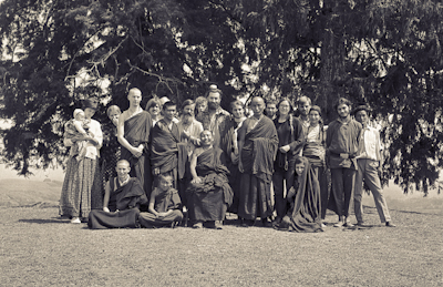 Second Kopan Meditation Course participants, spring 1972.