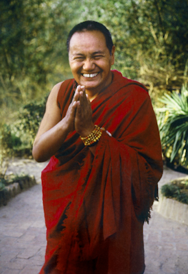 Lama Yeshe, Kopan Monastery, Nepal, 1981. Photo: Merry Colony. Restoration: David Zinn. Archival portrait available through Heart of the Moon Media (www.heartofthemoon.com)