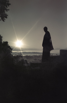 Sunrise at Kopan Monastery, 1972.