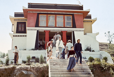 Students at Kopan Monastery, 1972.