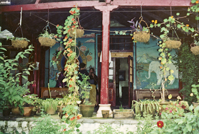 The front verandah at Tushita Retreat Centre, Dharamsala. Photo: Brian Beresford.