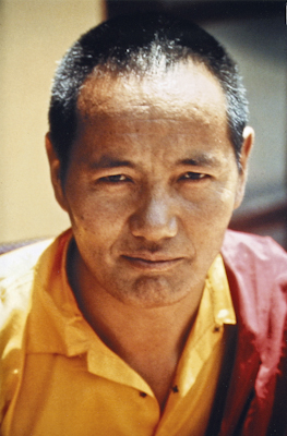Lama Yeshe at Kopan Monastery, Nepal, 1973. Photo: Lynda Millspaugh.