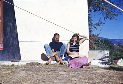 Nick Ribush and Yeshe Khadro (Marie Obst) at Kopan, 1973.