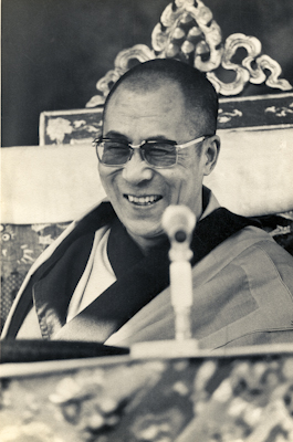 His Holiness the Dalai Lama in Bodhgaya, India, 1974.