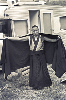 Lama Yeshe at Chenrezig Institute, 1975.