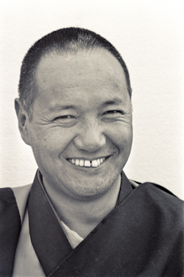 Portrait of Lama Yeshe taken at Chenrezig Insitute, Australia, 1975. Photo donated by Wendy Finster.