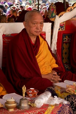 Lama Zopa Rinpoche, Kopan Monastery, Nepal, December 2015. Photo: Bill Kane.