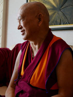 Lama Zopa Rinpoche in Thailand, May 2016. Photo: Ven. Roger Kunsang.
