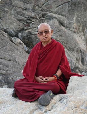 Lama Zopa Rinpoche, Omak Lake, Washington, USA, September 2016. Photo: Lobsang Sherab.