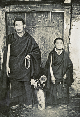 Losang Gyatso with the young Lama Zopa Rinpoche