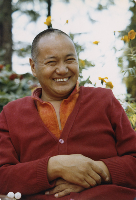 Lama Yeshe at Tushita Retreat Centre, Dharamsala, India, 1979.