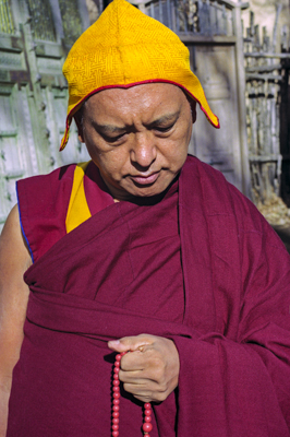 Lama Zopa Rinpoche in Taos, New Mexico, 1999. Photo by Lenny Foster.
