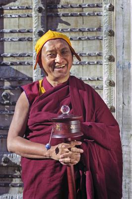 Lama Zopa Rinpoche, Taos, New Mexico, 1999. Photo: Lenny Foster.