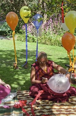 Lama Zopa Rinpoche at Chenrezig Institute, Eudlo, Australia, 1994.