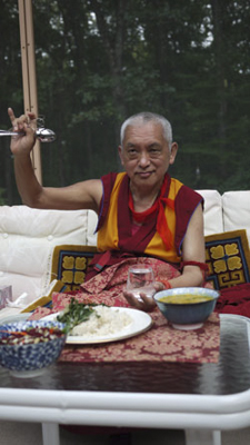 Rinpoche in Lincoln MA September 2010. Photo: Ven. Kunsang