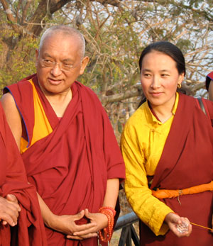 Rinpoche and Khadro-la. Photo: Jerry Powers