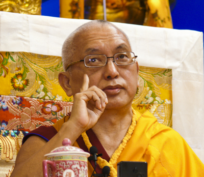 Lama Zopa Rinpoche, Deer Park 2008. Photo: Kalleen Mortensen.