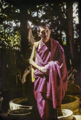 Lama Zopa Rinpoche in Honolulu, Hawaii, June 1975. Courtesy of Kathleen Bryan.