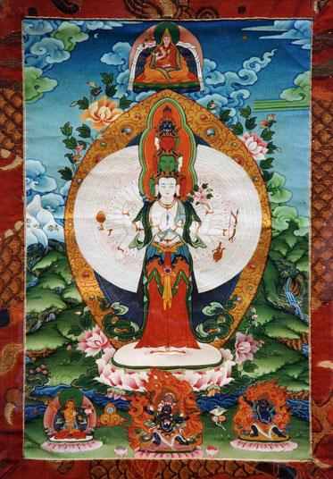 Thousand-arm Chenrezig (Avalokiteshvara). Photo courtesy of FPMT.