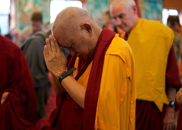Lama Zopa Rinpoche at Kopan, 2015. Photo: Bill Kane.