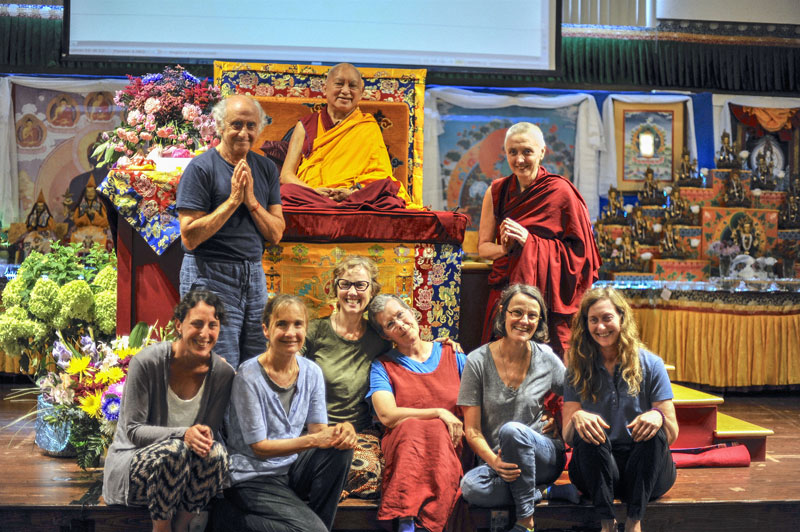 LYWA Staff at Light of the Path retreat, August 2016. Photo: Ven Sherab.