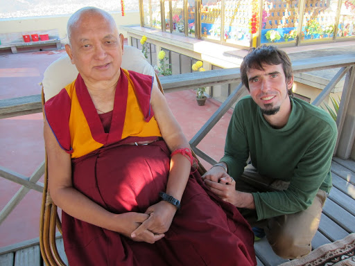 Osel with Lama Zopa Rinpoche at Kopan 2012. Photo: Ven. Roger