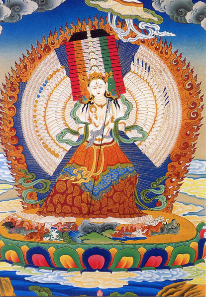 White Umbrella Deity (Arya Sitatapatra). Photo courtesy of FPMT.