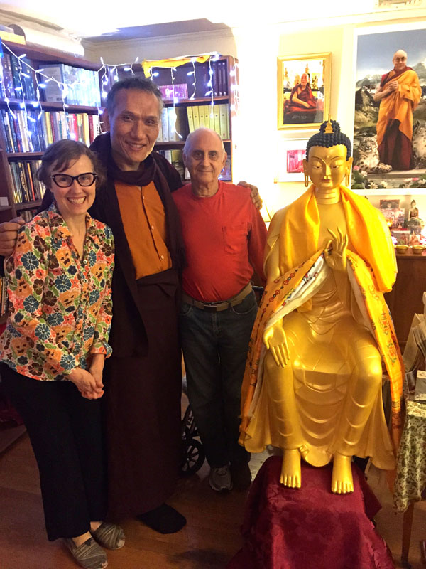 Yangsi Rinpoche, Wendy Cook and Nick Ribush, Lincoln MA, April 2015.