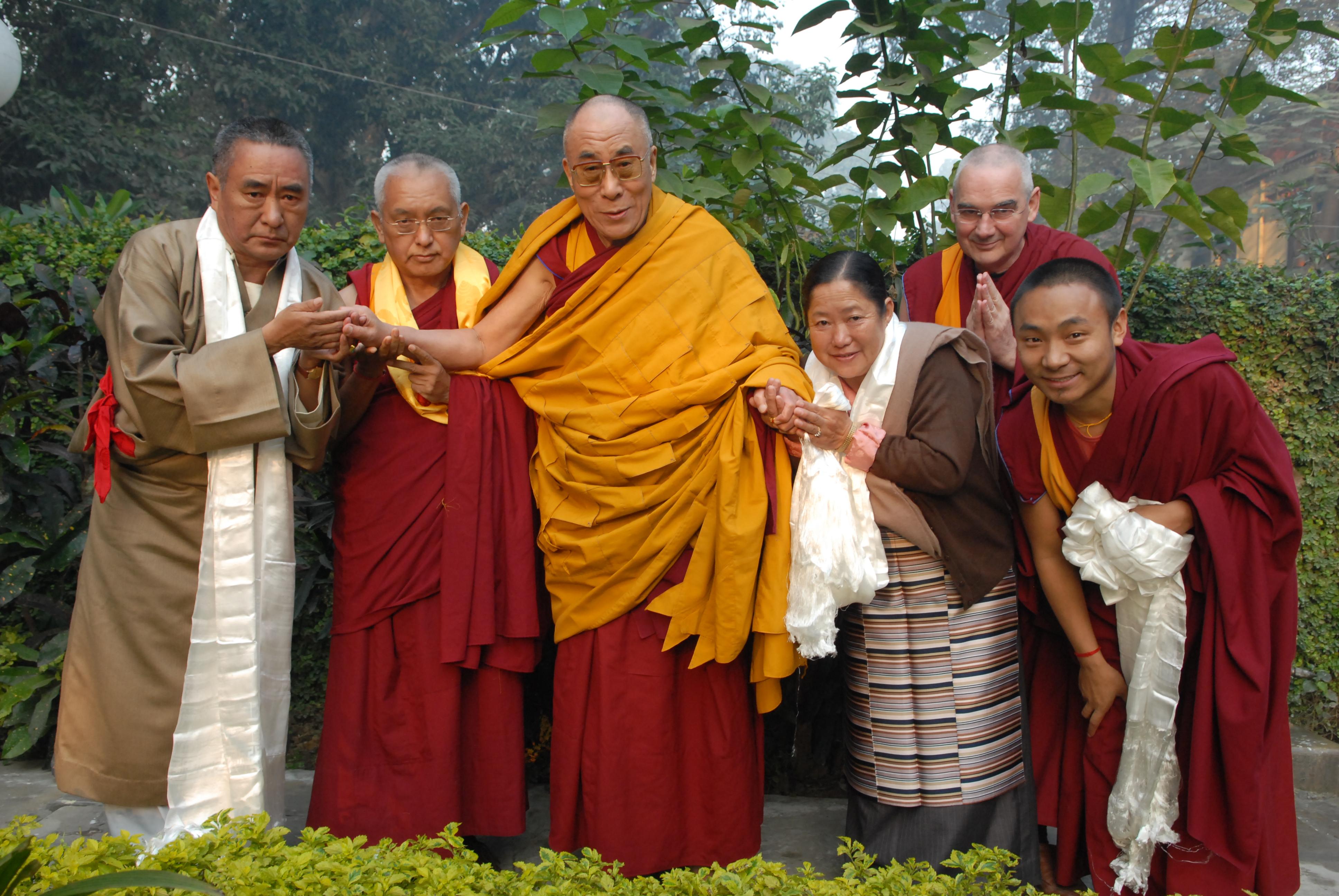 His Holiness the Dalai Lama and Lama Zopa Rinpoche in Sarnath, India, 2009. Photo: Office of His Holiness the Dalai Lama.