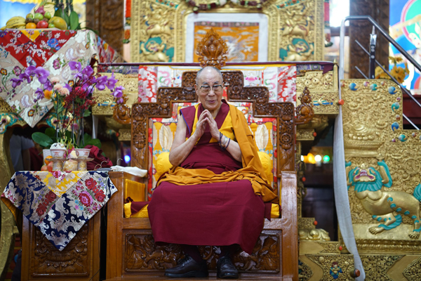 His Holiness the Dalai Lama, Ganden Shartse, India, December 2019. Photo: Bill Kane.
