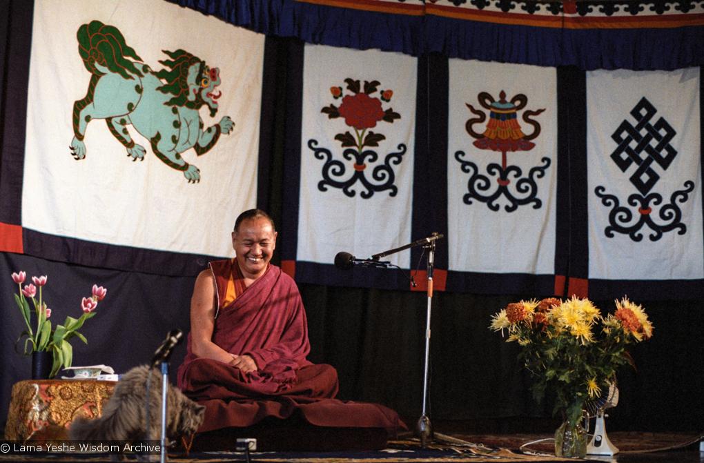 (04009_ng.JPG) Lama Yeshe teaching at Kosmos Centre, Amsterdam, 1979. Jan-Paul Kool (photographer)