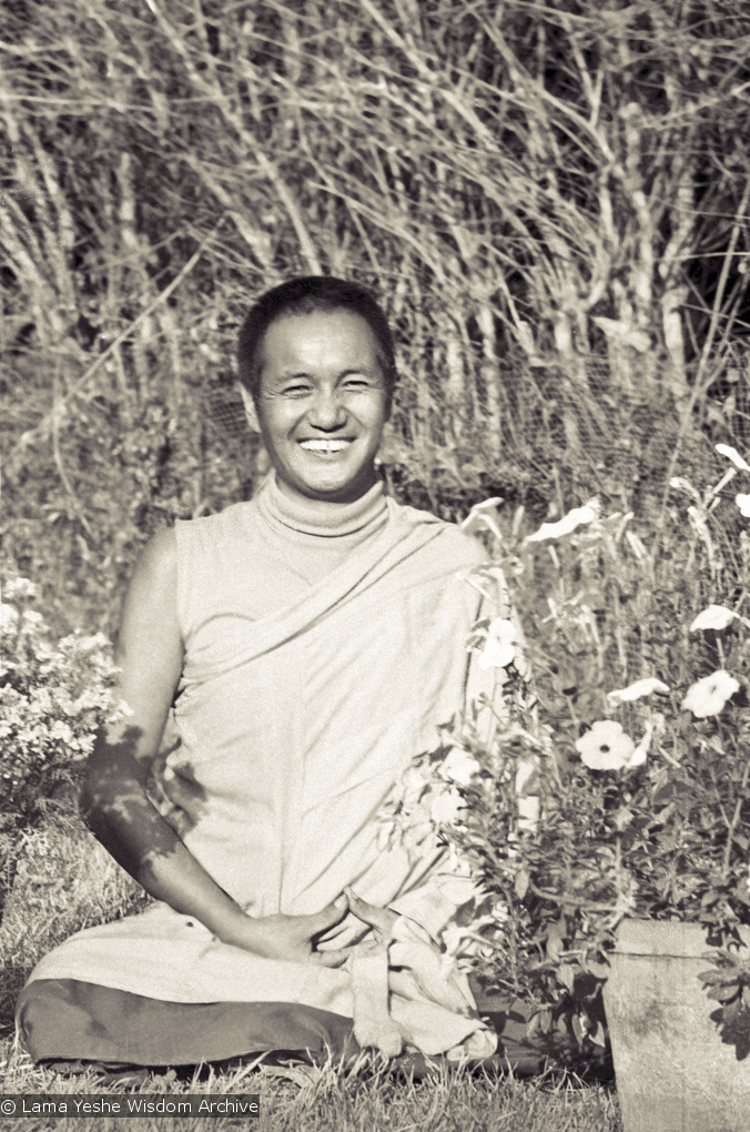 (13210_ud3.psd) Portrait of Lama Yeshe taken at Kopan Monastery at the end of the first meditation course, Nepal, 1971. Photo by Fred von Allmen.