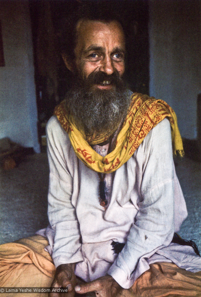 (15062_pr-2.psd) Age (pronounced Oh-wa) Delbanco, a Danish hippie and spiritual seeker who was given the nickname Babaji, and who became an early student of the Lamas. Photo from 1970.