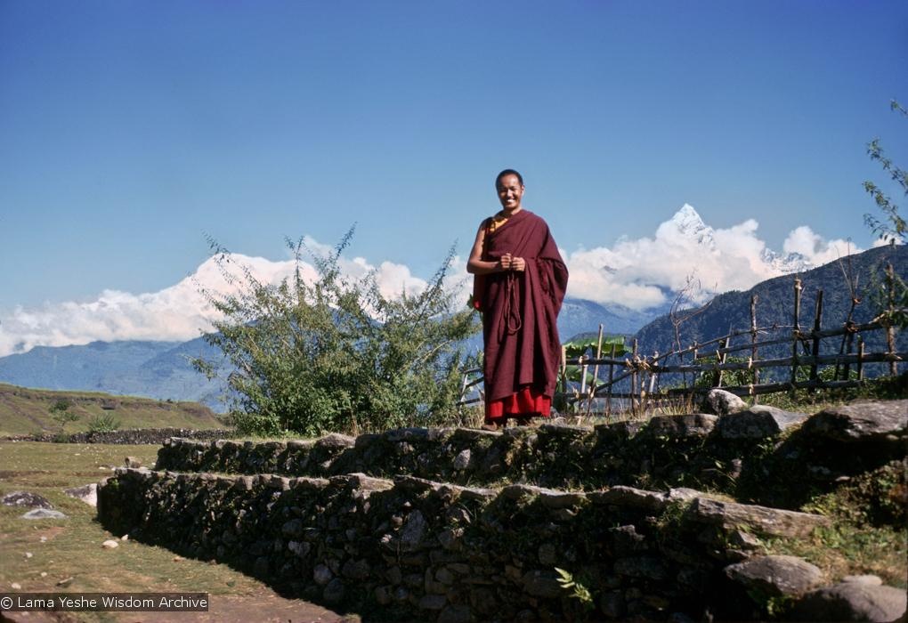 (15073_sl-2.psd) Lama Yeshe in Pokhara, west of Kathmandu. Photos by Max Mathews, 1970.