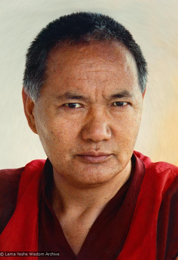 (15133_pr.psd) Portrait of Lama Yeshe, Geneva, Switzerland, 1983. Photos by Ueli Minder.