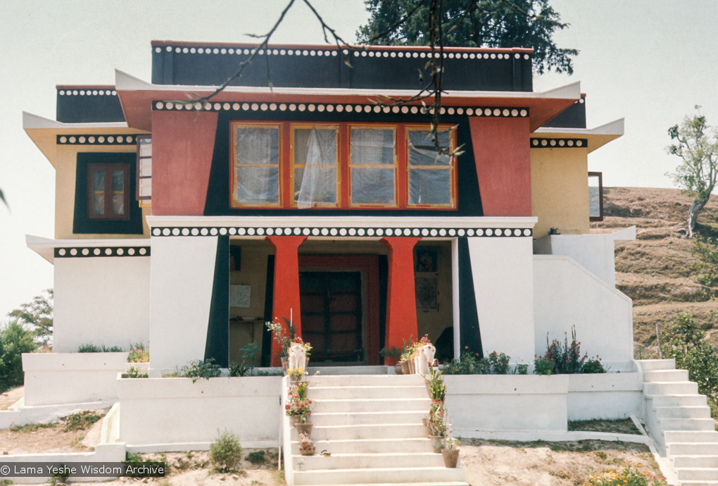 (15166_sl.tif) Front view of Kopan, 1972. Kopan Monastery, built in Nepal, is the first major teaching center founded by Lama Yeshe and Lama Zopa Rinpoche.