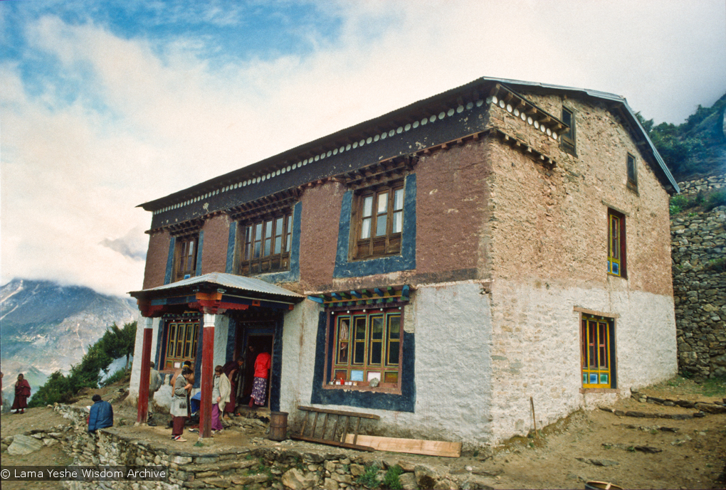 (15169_sl.psd) Lawudo Retreat Centre, Nepal,1972. Lawudo was the hermitage of the Lawudo Lama, the former incarnation of Lama Zopa Rinpoche.