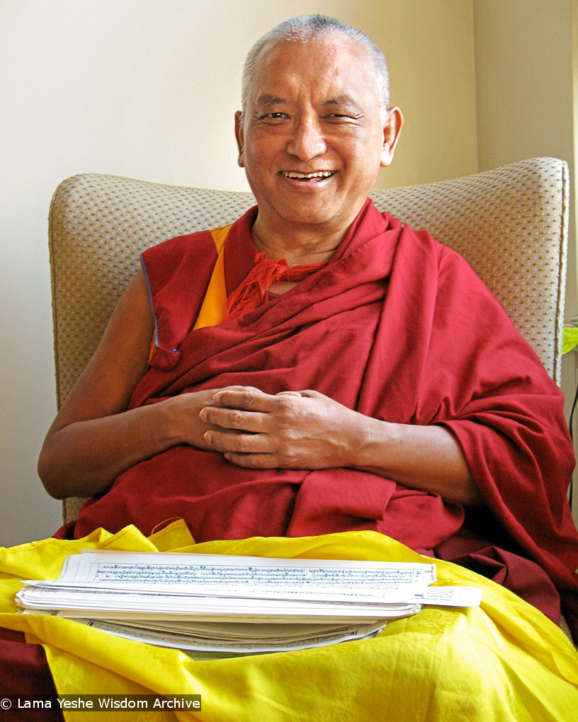 (15905_ud-Edit-2.psd) Portraits of Lama Zopa Rinpoche, 2010. Photo by Roger Kunsang.