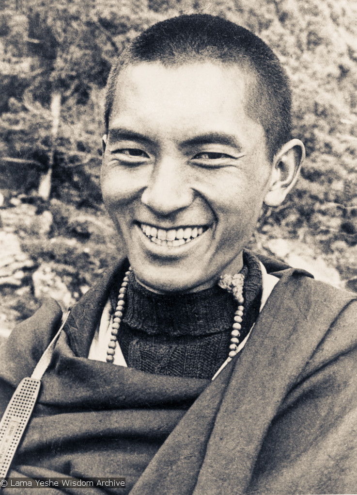 (15083_ud.psd) Portrait of Lama Zopa Rinpoche at Lawudo Retreat Centre, Nepal, 1970.
