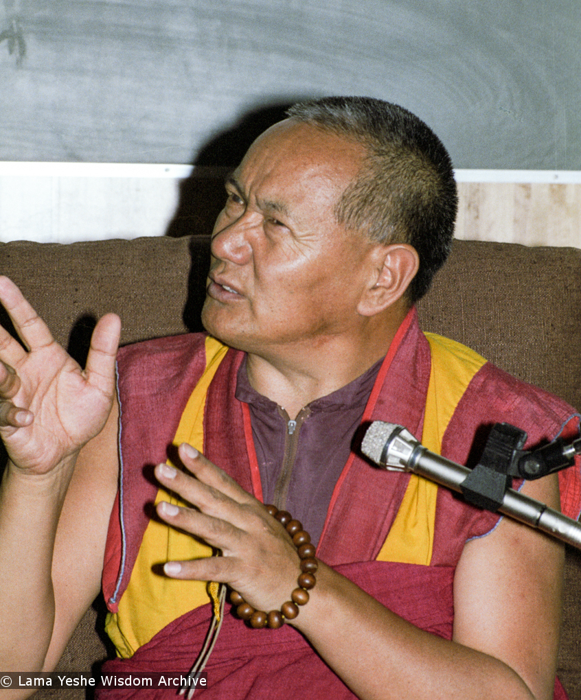 (17120_ng.TIF) Lama Yeshe was invited to Sweden for one week in September 1983. Here at Etnografiska Museet in Stockholm he gave a public teaching on Death, Intermediate State and Rebirth. Photos by Holger Hjorth.