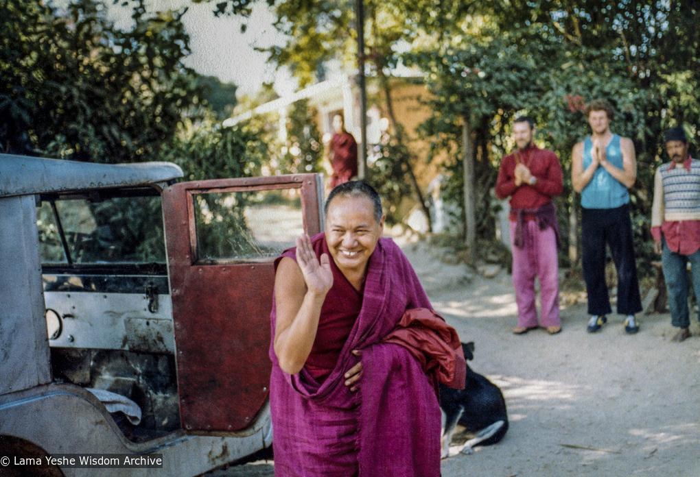 Lama Yeshe at the 13th Meditation Course, Kopan Monastery, 1980. Courtesy Dean Alper.