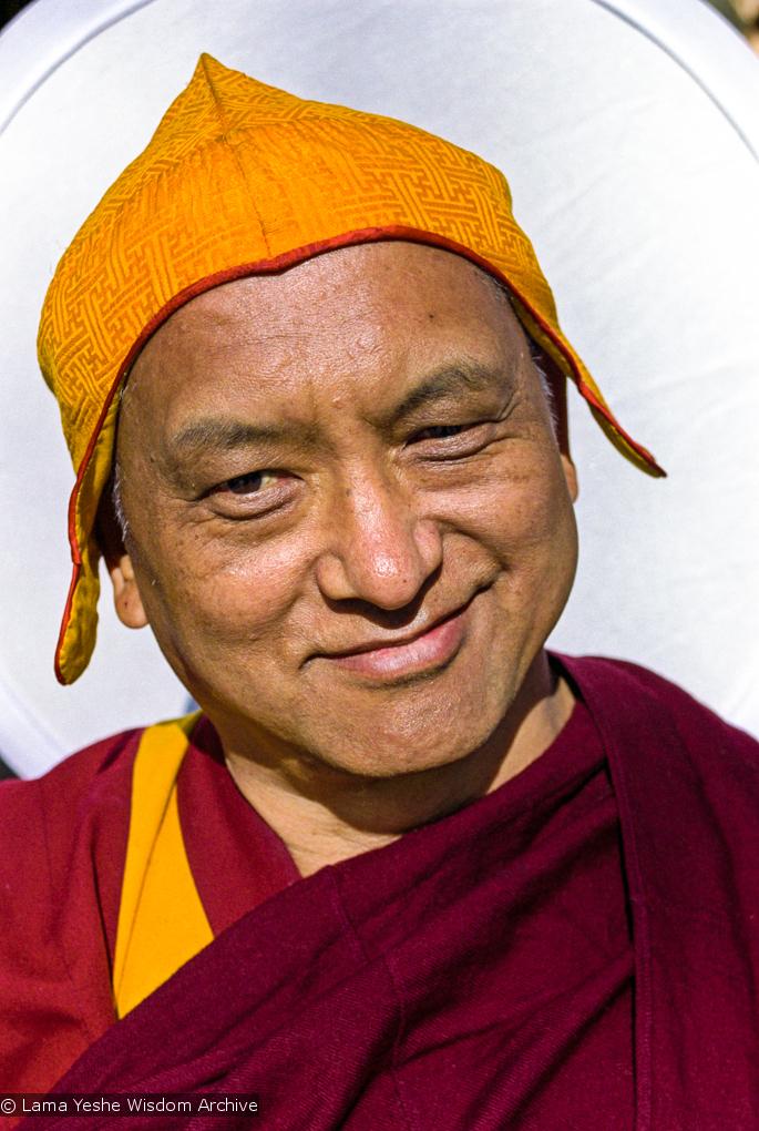 Lama Zopa Rinpoche, Taos, New Mexico, 1999. Photo: Lenny Foster