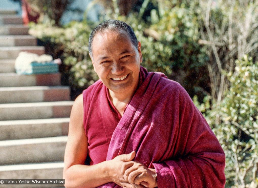 (38100_pr-3.jpg) Lama Yeshe at the 13th Kopan Meditaiton course, Kopan Monastery, Nepal, 1980. Dean Alper (donor)