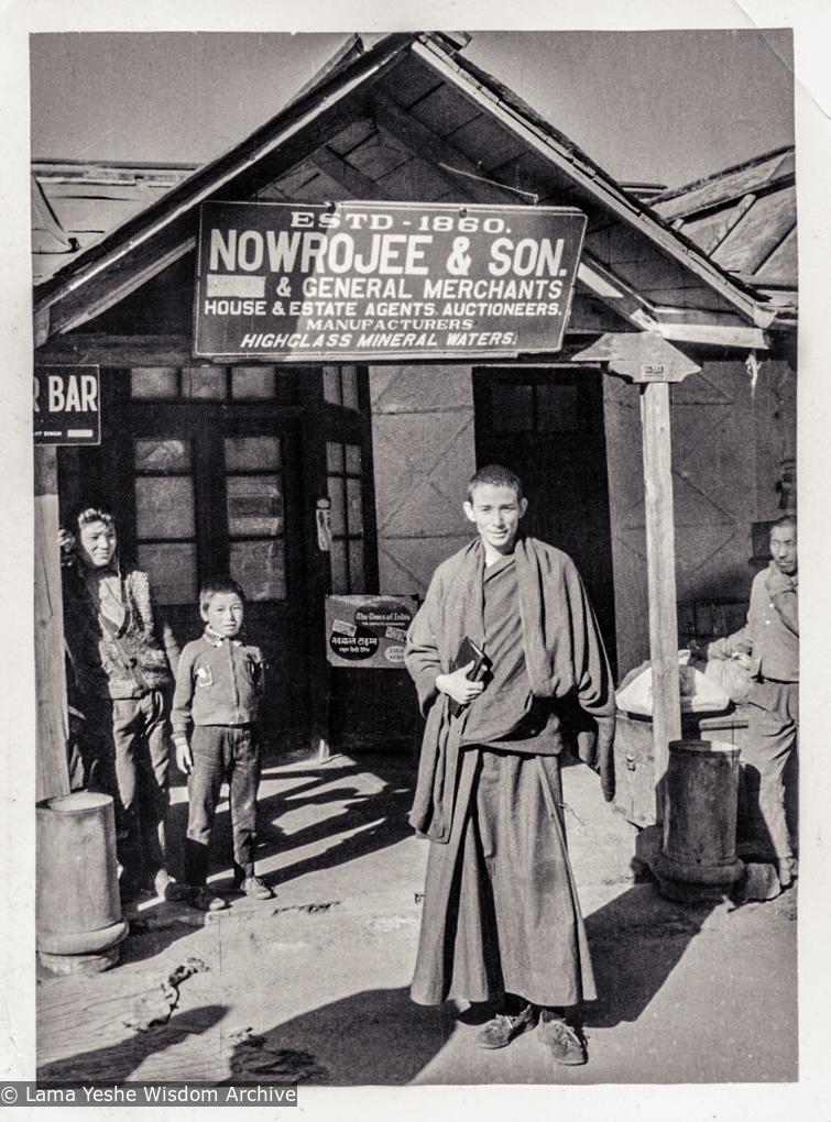 (39245_ng-3.psd) Anila Ann at Nowrojee's store, Dharamsala, ca 1972. Peter Kedge (photographer)