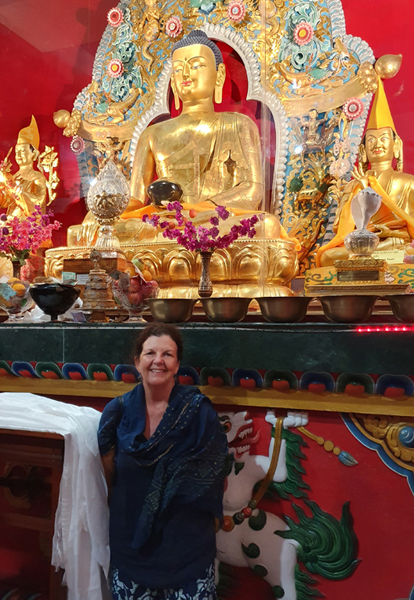 Sandra Smith, Drepung Loseling Monastery, India, December 2019.